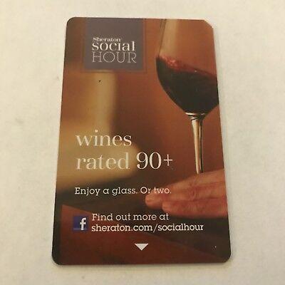 Sheraton  Starwood Preferred Guest Room Key Card   Social Hour