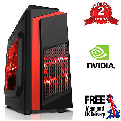 Computer Games - Mega Fast AMD Dual Core 8GB 1TB Home Office Gaming PC Computer GT 710 F3R