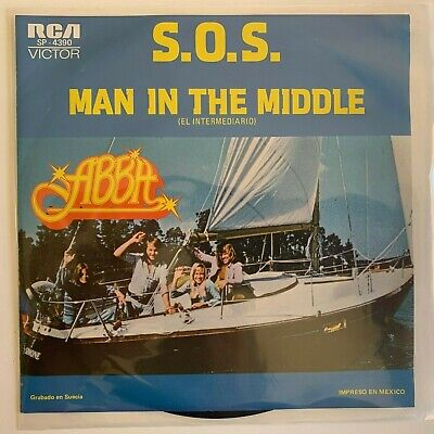 "ABBA -S.O.S. / MAN IN THE MIDDLE- 1975 MEXICAN 7"" SINGLE PS EUROPOP"