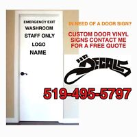 SMALL BUSINESS VINYL DECAL SIGNS