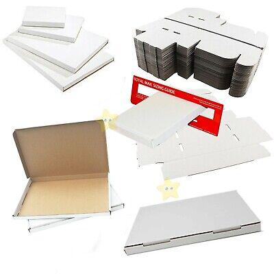 100 x C6 White Royal Mail Large Letter Cardboard Postal PIP Boxes