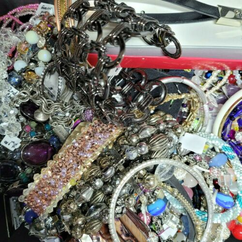 Mystery Jewelry Lot Vintage Modern Wearable Sellable  2lbs Good Cond READ DSCRP