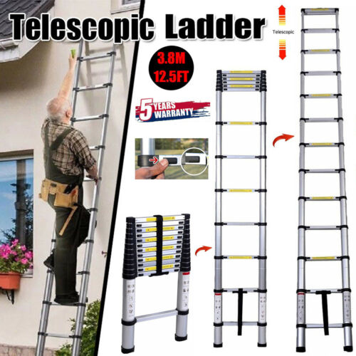 Retractable Climb Step Compact Save Space Extend to 3.8M/12.