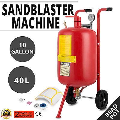 Druckluft Sandstahler 38 L Mobiles Sandstrahlgerät 10 Gallon Sandstrahlen Pot