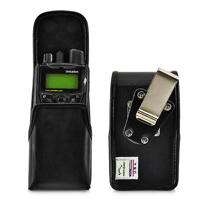 Unication G1 Voice Pager Holster Metal Clip Case Pouch Leather Turtleback Voice Pager