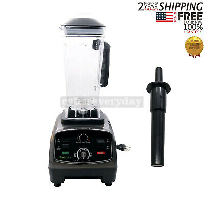 2l Heavy Duty Commercial Blender With Timer 2200w Bpa-free Variable Speeds Usa