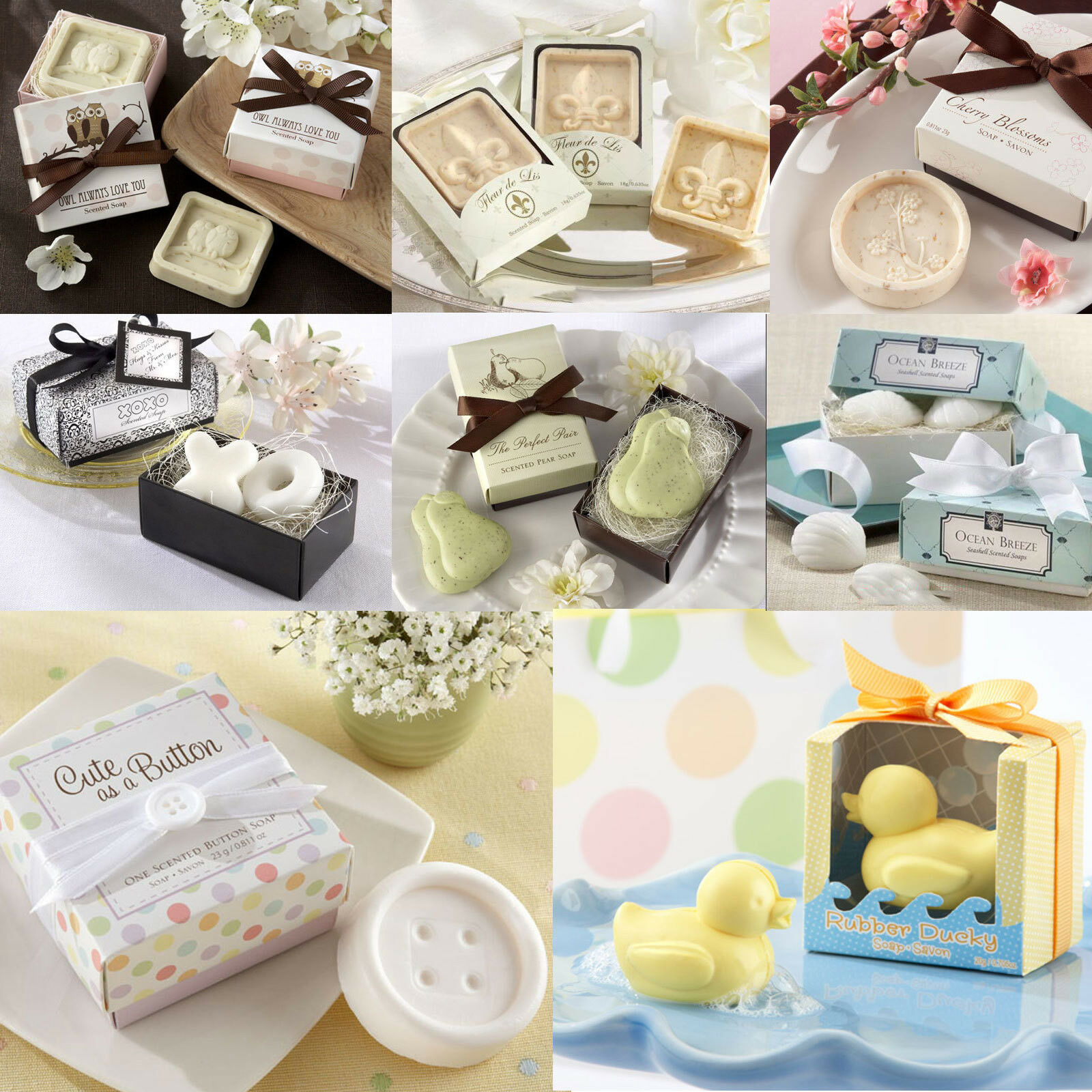 Small Gift For Wedding: Creative Cute Gift Handmade Small Bath Soap Wedding Favors