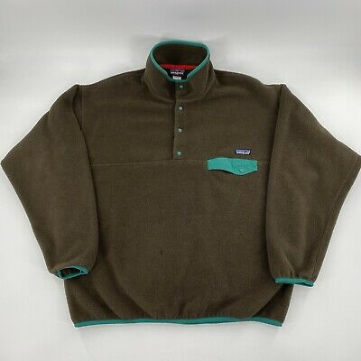 Patagonia Synchilla Snap-T Pullover Fleece Jacket Mens Size XL Green