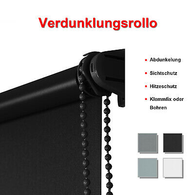 Rollo Klemm-fix Verdunklungsrollo Thermo ohne Bohren Klemmrollo Fenster-rollo