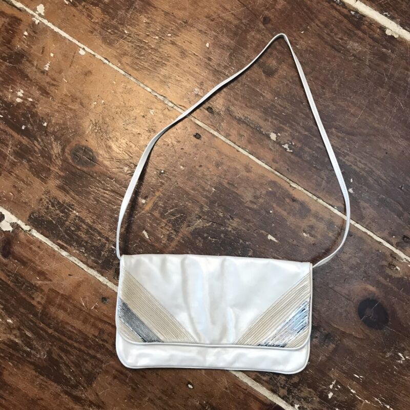 Vintage 70s Timmy Woods Purse Womens Leather Crossbody Shoulder Evening Bag