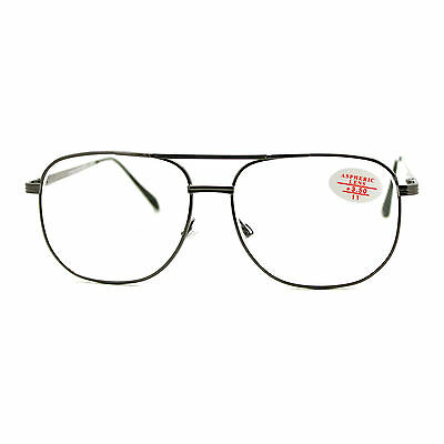 Clear Lens Glasses With Bifocal Reading Lens Vintage Square Spring (Clear Glasses With Reading Bifocal)