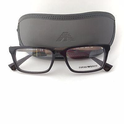 New 100% Authentic EA3030 5029 Emporio Armani EYEGLASSES FRAME Black transparent