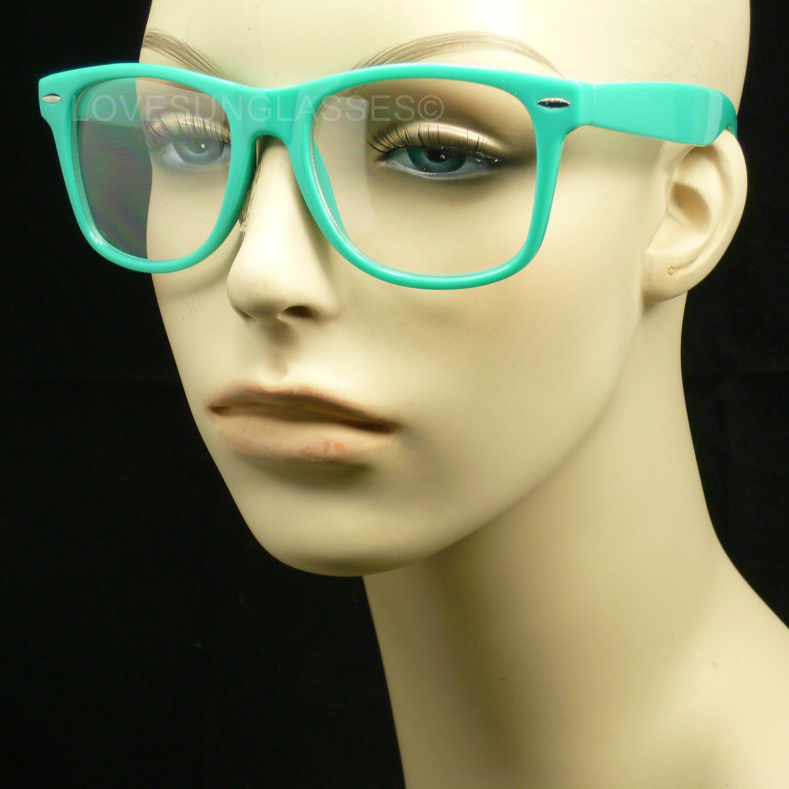 Green frame clear lens