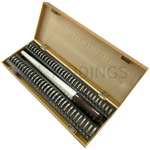 UK Ring finger sizer measure gauge all British sizes A-Z+6 Wooden set kit tool
