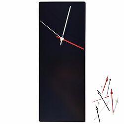 Minimalist Wall Clock Modern Black Decor Contemporary Metal Clock Abstract Clock
