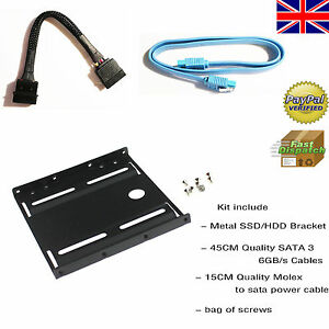 3.5-Inch to SSD / 2.5-Inch Internal Hard Drive Mounting Bracket Rail Adapter kit