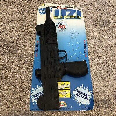 Vintage UZI Water Squirt Machine Gun 80s Agglo MOC Pump Action New Pistol ()