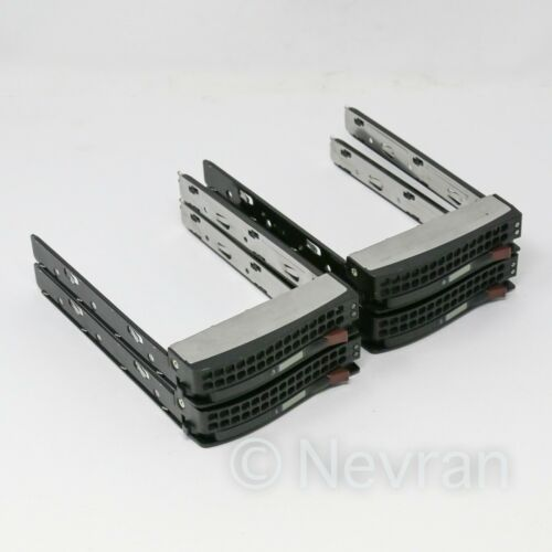 "Supermicro 01-SC93301-XX00C003 3.5"" SAS SATA Hot Swap Hard Drive Tray Caddy 4 PK"