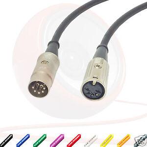 Midi cable alargador 5 pines din cable macho a hembra for Alargador de corriente