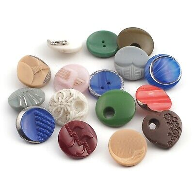 green- with white cream 24 vintage plastic buttons 4 colors-brown orange square buttons 12mm