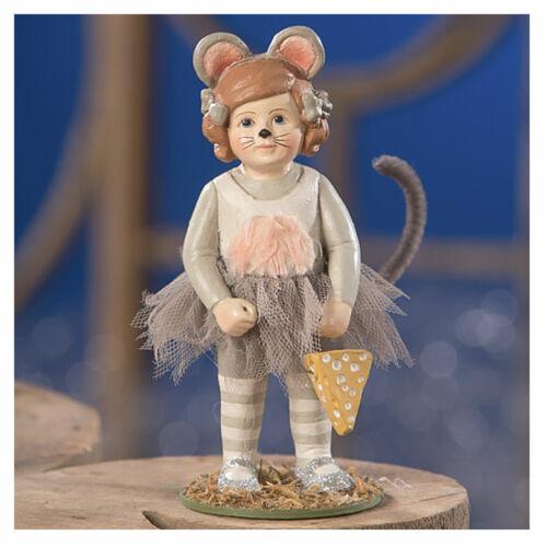 "4.5"" Bethany Lowe Minny Ballerina Mouse Trick Or Treat Halloween Figurine Decor"