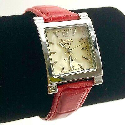 Wrist Watch, Activa Swiss, Women's, Silvertone, H2O Resist, Signed
