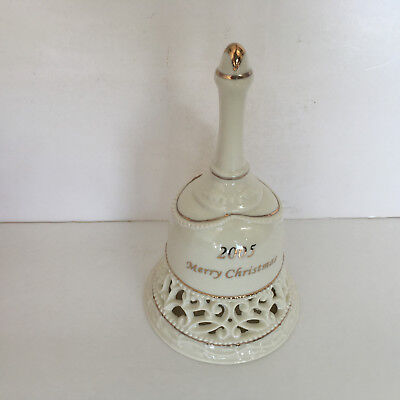 2005 Christmas porcelain pierced bell holiday decor collectible gift jiggle bell (Jiggle Bells)