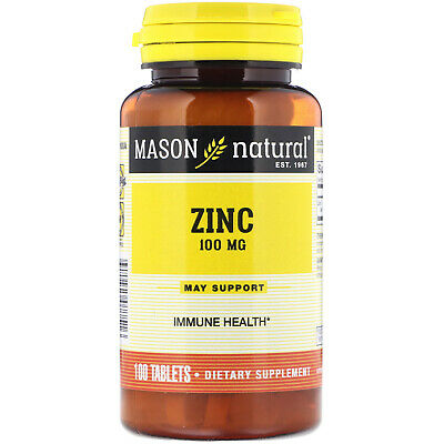 Mason Natural  Zinc  100 mg  100 Tablets