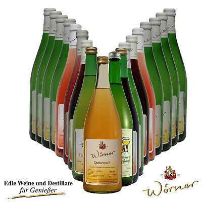 WEINGUT WÖRNER: 18 Fl. Wein - Weißwein Rotwein Saft Probiersortiment - Weinprobe