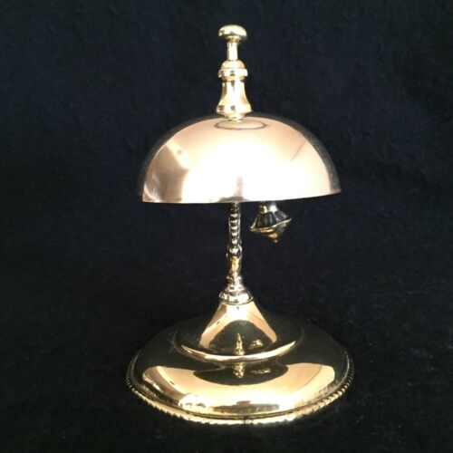 ANTIQUE HOTEL / GENERAL STORE BRASS SERVICE CALL TAP BELL