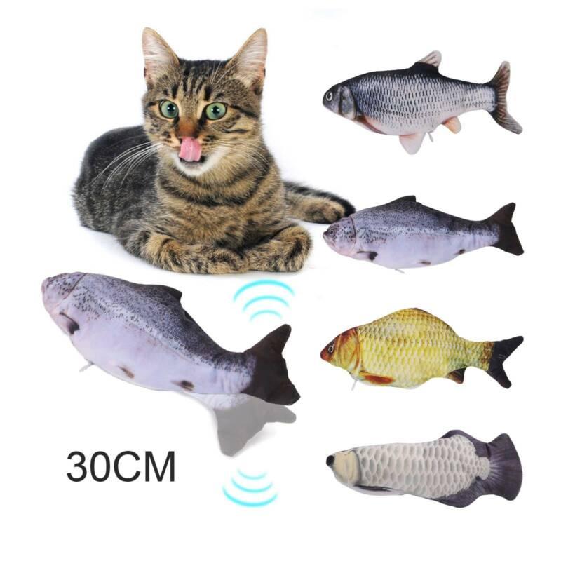 Simulation Fischspielzeug Katzenminze Katze Kauen Wagging Elektrisches Springen