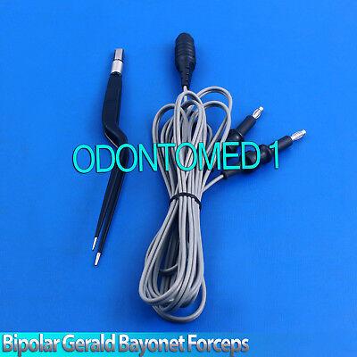 Bipolar Gerald Bayonet Forceps 20cm Non Stick Reusable Electrosurgical El-043