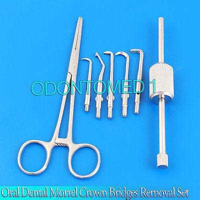 Oral Dental Morrel Crown Bridges Removal Kit With Holding Forcep Dentistry Lab