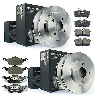 2x Bosch Bremsscheiben 258mm und Beläge Vorne für Ford Focus DAW DBW DFW