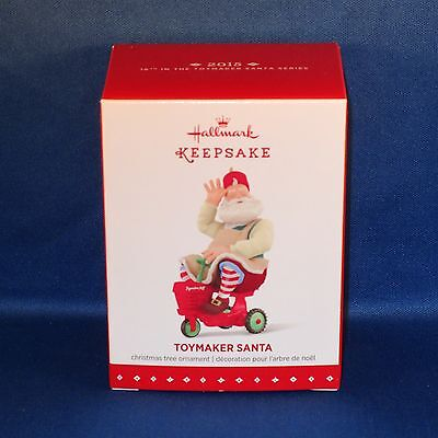 Hallmark - 2015 Toymaker Santa #16 - Keepsake Christmas Ornament - NEW