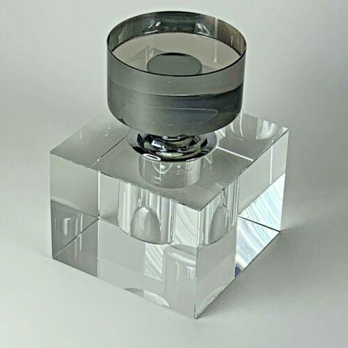 "Zodax ""Amari"" 4.25"" Tall Glass Perfume Bottle and Applicator Cube Shaped"
