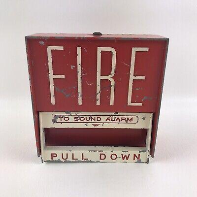 Vintage Firelite Model Bg6 Pull Down Fire Alarm Box Used