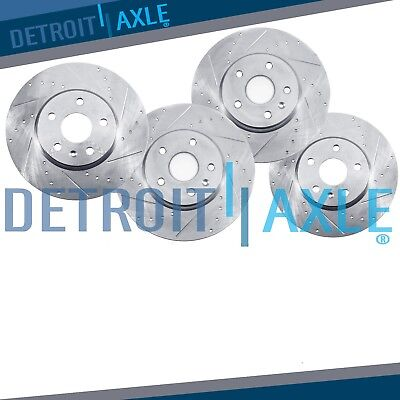 All 4 Front  Rear DRILLED  SLOTTED Brake Rotors 2010   2015 Camaro V6 LT LS