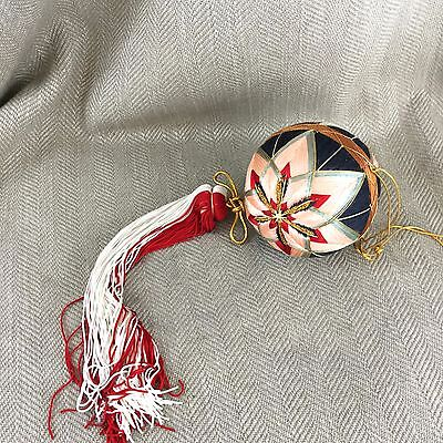 Uyghur Turko Chinese Silk Thread Ball & Tassel Tradition Folk Art Hand Made