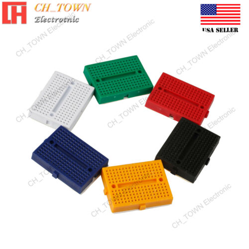 6pcs 6 colours Mini Breadboard SYB-170 170Tie-points Solderless Prototype Board
