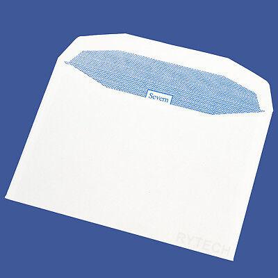 25 Plain White C6 / A6 Gummed Envelopes 80GSM Postal Letter Mail Quality