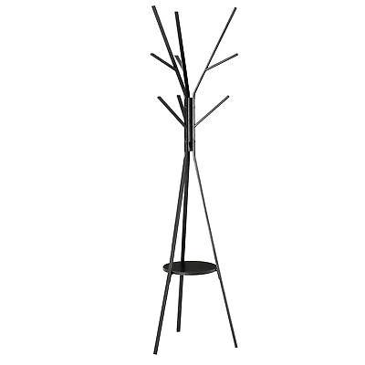HOMCOM Appendiabiti da Terra Moderno Attaccapanni per Ingresso Nero 45x45x180cm