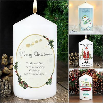 Personalised Christmas Candle Table Decoration Advent Xmas Gift Idea  - Christmas Table Decoration Ideas