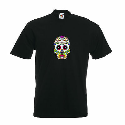 T-Shirt - Sugar Skull - ssk13 - Herren - Dia de los muertos Totenkopf calavera