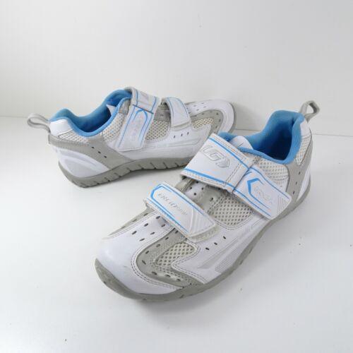 Womens Size 8 (EU39) Garneau Womens Cycling Shoes White LG Ergo Grip Hook Loop