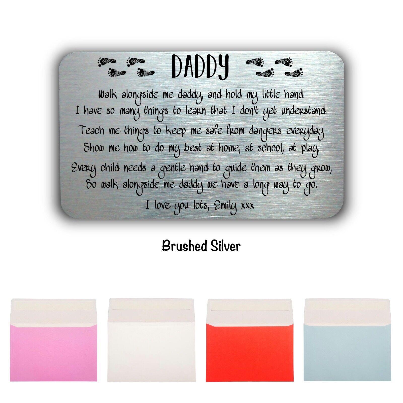 Padre/'S GIORNO personalizzato Portafoglio CARTA REGALO DAD DADDY Keepsake Idee regalo