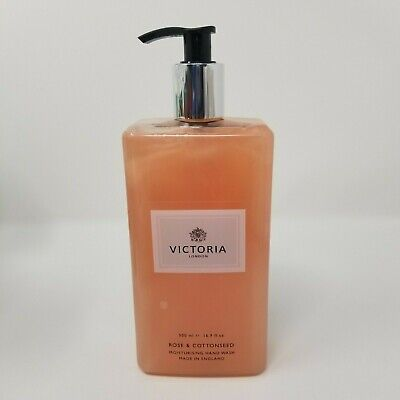 VICTORIA London, ROSE AND COTTONSEED Moisturising Hand Wash, 16.9 oz, NEW