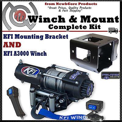 KFI 3000 lb Winch Combo Polaris Sportsman 550 850 XP & 2011-2019 (101740)