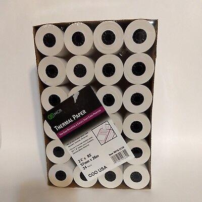 NCR Thermal Paper Rolls, 24 rolls, for Cash Register Credit/Debit Card Printer ()