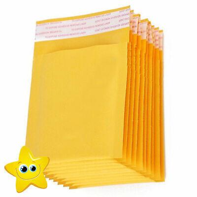 100 Small Gold Padded Bubble Lined Envelopes Mail Cheap Brown Yellow
